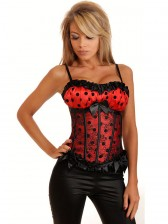 Polka Dot Satin & Lace Corset