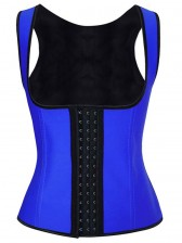 Hot Sale Royalblue Latex Steel Bone Vest Underbust Corset