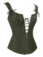 Steampunk Faux Leather Lace Up Vest Corset