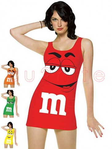 Womens Red M&M Cosutme
