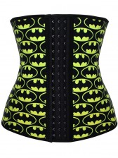 9 Steels Crazy Sexy Ghosts Print Waist Training Cincher Halloween Corset