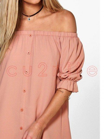Hot Chiffon Off Shoulder Loose Casual Short Mini Dress