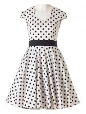 1950's Vintage Polka Dot Rockabilly Swing Dress
