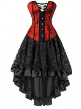 Ornate Gothic Burlesque Dancing Corset Skirt Set