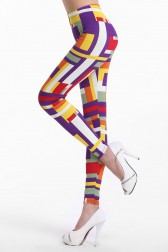 Colorful Tetragonum Legs-shaping Fashion Leggings