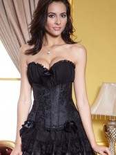 Floral Pattern Ruched Bra Corset