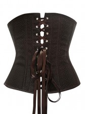 Brown Under Bust Corset