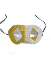 Silver And Gold Masquerade Glitter Masks