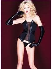 Lycra Lined Power Mesh Bustier