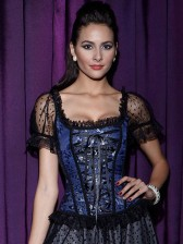Organza Sleevees Brocade Corset