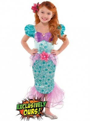 Girls Ariel Disney Princess Costume
