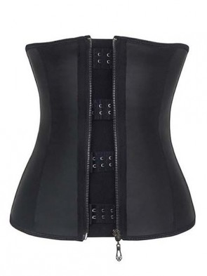 Steel Boned Fat Burning Latex Waist Trainer with Zipper