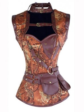 Steampunk Corset with Sleeveless Jacket