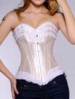 Apricot Satin Cotton Corset