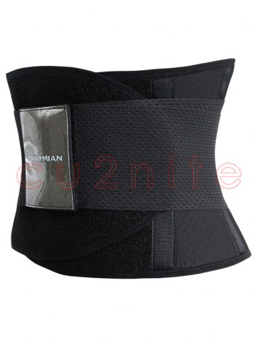 Workout Black Neoprene Waist Trainer Belt for Hourglass Figure