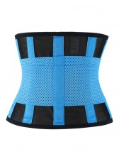 Workout Sport Gym Blue Waist Trainer Belt Body Shaper for Hourglass Shape
