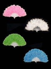 Coloured Burlesque Feather Fans