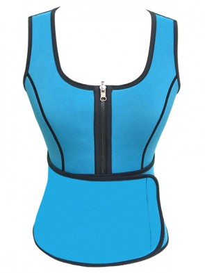 Fashion Latex Waist Training Vest Corset with Girdles for Sport Gym