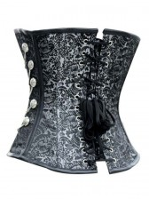 High Quality Black Steel Bone Overbust Corset