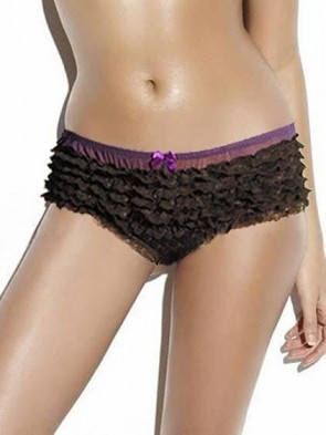 Sexy Purple Low Rise Ruffle Rhumba Panties