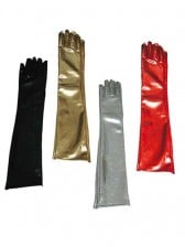 Wet Looking Long Gloves