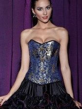 Steampunk Brocade Steel Boned Corset