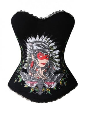 Cannibal Tribe Halloween Corset