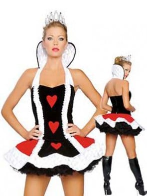Clearance! Deluxe Queen of Hearts Costume with Tiara