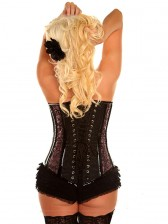 Purple Buckled Brocade Corset