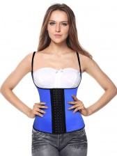Sexy Royalblue Latex Steel Bone Vest Underbust Corset