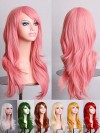 70cm Solid Colour Long Wavy Wig