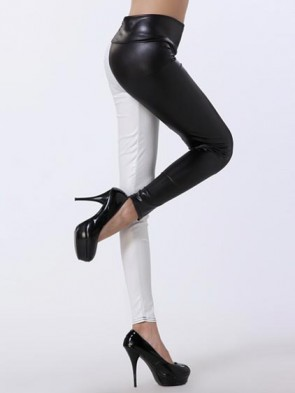 Black and White High Waist Leggings