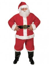 6 Piece Complete Santa Suit Costume