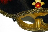 Deluxe Venetian Style Pirate Hat Mask
