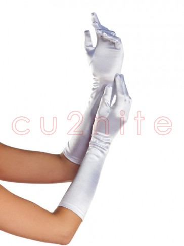 Mid Arm Length White Gloves