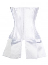 White Satin Skirted Corset