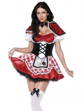 3 Piece Sexy Adult Red Riding Hood Costume