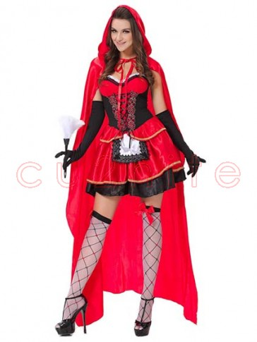 Sexy Little Red Riding Hood Costume with Long Cape