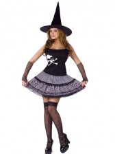 Clearance! Funky Punk Witch with Hat