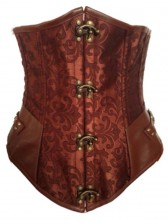 Brown Steel Boned Steampunk Underbust