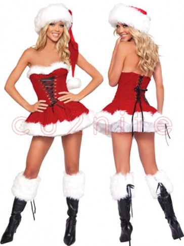 Deluxe Santa Candy Girl Christmas Costume