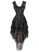 Vintage Burlesque Queen Corset Dress Halloween