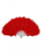 Red Burlesque Feather Fan