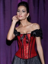 Sequin Lace-Up Corset