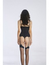 Women's Fashion Black Lace Bustier Corset