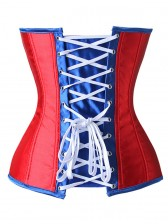 Fashion American Flag Pattern Steel Boned Overbust Corset