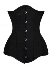 26 Steel Bones Unique Long Waist Training Corset Cotton Steel Underbust Double Boned Shaper