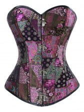 Sexy Steampunk Jacquard Steel Boned Overbust Corset