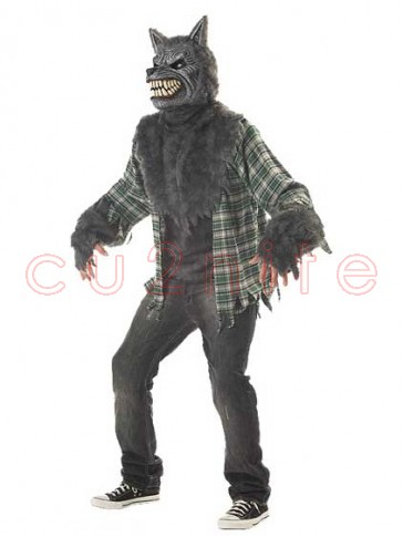Full Moon Madness Wolf Costume with Motion Mask