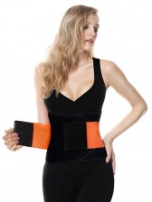 Workout Sport Gym Orange Waist Trainer Belt Body Shaper for Hourglass Shape